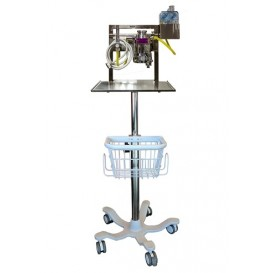 ROLL STAND WITH BASKET FOR ANAESTHETIC MACHINE